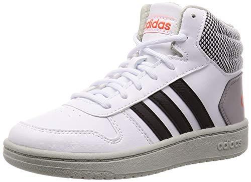 adidas Hoops Mid 2.0 K, Scarpe da Basket Unisex-Bambini, Multicolore (Ftwbla/Negbás/Placen 000), 28 EU