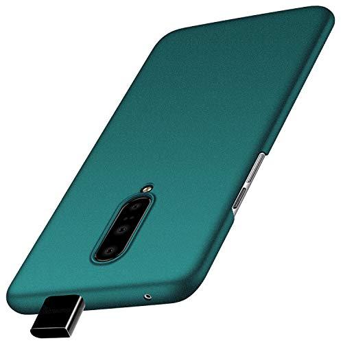 Anccer Kompatibel Mit OnePlus 7 Pro Hülle, [Serie Matte] Elastische Schockabsorption & Ultra Thin Design für 1+7 Pro (Kies Grün)