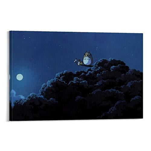 DRAGON VINES Película de animación My Neighbor Totoro Night Forest lindas impresiones artísticas decoraciones para decoración del hogar, salón comedor 50 x 75 cm