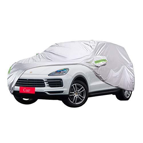 Couverture de voiture Compatible avec Porsche Cayenne Couverture de voiture SUV épais Oxford Tissu Protection contre le soleil Couverture chaude anti-pluie Housse de voiture (taille : 2018)