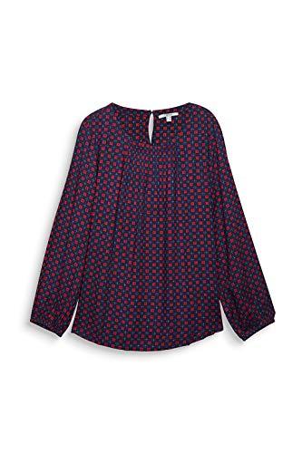 ESPRIT Damen 100EE1F320 Bluse, 403/NAVY 4, 50