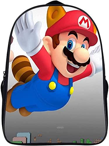 Su-pe-r Ma-rio Br-os - Zaino per bambini Mario, ideale come regalo per bambini, comodo e tempo libero (A02,16 pollici)