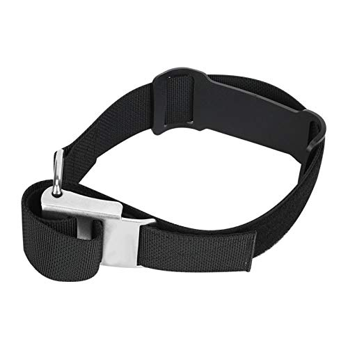 Tomantery Cylinder Strap with Non-Skid Pad Strong Rust Resistance 316 Stainless Steel for Scuba Diving Accessory,for 12-14L Cylinders(Black)