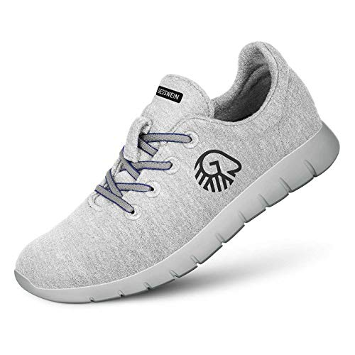 GIESSWEIN Herren Woll-Sneaker Merino Runners, Hellgrau-031, 43 EU