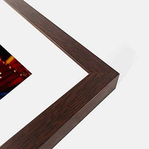 HIMFL Marco de fotos de madera maciza para rompecabezas, marco de fotos para montaje en pared, marco de accesorios de fotos de cumpleaños, regalos de boda