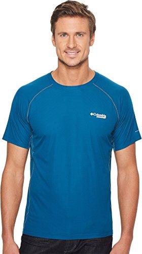 Columbia Titan Ultra T-Shirt de Course à Manches Courtes pour Homme L Phoenix Blue.