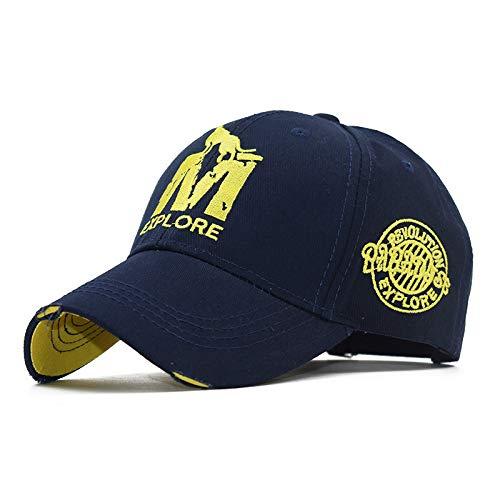 mlpnko Patrón de Lobo Bordado Tridimensional Gorra de béisbol Costura Bordado Protector Solar Sombrero de algodón de Alto Grado 2 Ajustable