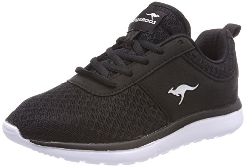 KangaROOS Damen Bumpy Sneakers,Schwarz(Jet Black 5001),39 EU