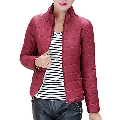 Auifor Vrouwen de warme mantel staande kraag jas dunne winterparka outwear coats