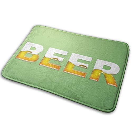 LIS HOME Badematte, Fußmatte zur Begrüßung, Fußmatte für den Eingangsbereich, Teppich für den Innenbereich, Außentürmatte mit Rutschfester Gummiunterlage, Fußmatten mit Beer-Logo Bedrucken