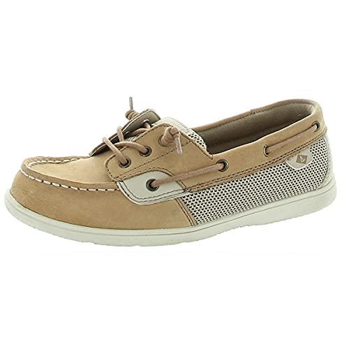 Sperry girls Shoresider Jr Crib Boat Shoe, Linen, 3 Big Kid US