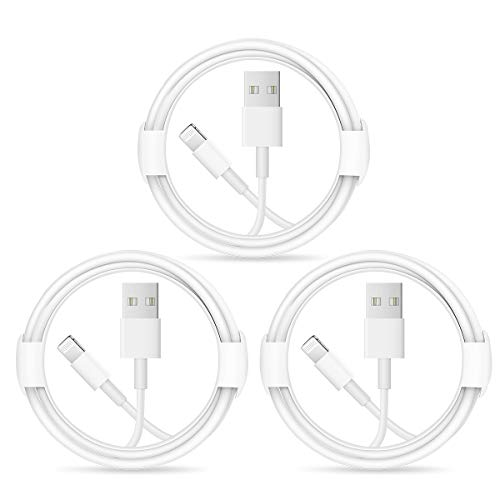 iPhone Charger Lightning Cable【Apple MFi Certified】3 Pack USB Charging Cables Compatible with iPhone 12/12 PRO/Max/11/11PRO/XS/Max/XR/X/8/8 Plus/7/7P/6S/6Plus/5s/5/iPad and More