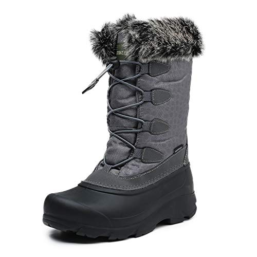 Rokiemen Warm Snow Boots Womens Winter Ankle Bootie Outdoor Slip on Ankle Boots Warm Fur Lined Shoes
