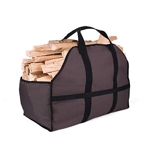 Holzsäcke für Holz 60 x 30 x 26 cm, craftman168 große Leinen Brennholz Holztasche ideal für Kamin Holzhalter Aufbewahrungstasche
