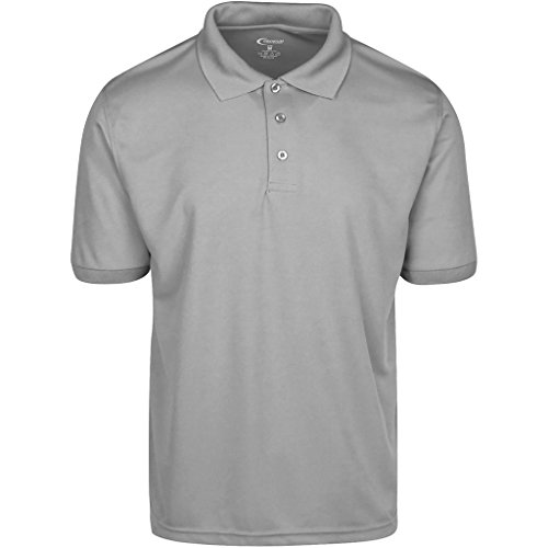 Mens Gray Drifit Polo Shirt Large