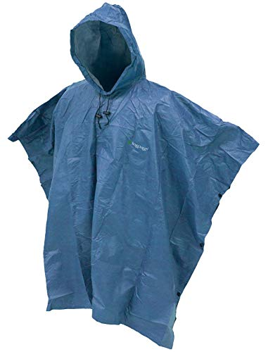 FROGG TOGGS Men's Standard Ultra-Lite2 Waterproof Breathable Poncho, Blue, One Size