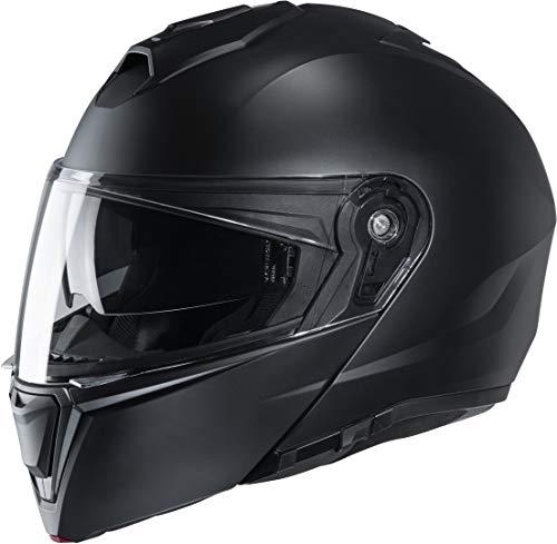 HJC Helmets Motorradhelm i90 SEMI MAT Schwarz/SEMI FLAT BLACK, Schwarz, M, 15337008