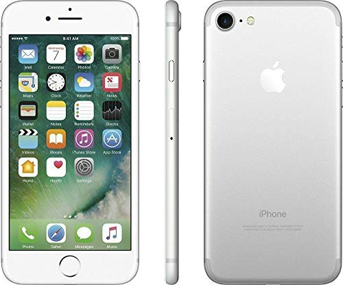 Apple iPhone 7, 32GB, Silver - Fully Unlocked (Renewed)