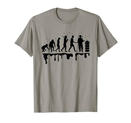 Imker Tshirt Evolution des Imkers T-Shirt Imkerei Geschenk