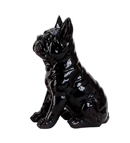 Geschenkestadl Französische Bulldogge Mops Figur (Schwarz)