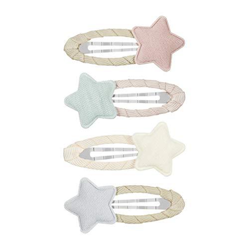 【MIMI&LULA ミミ&ルーラ】Tokyo star clic clacs ヘアクリップ 4個セット (Pastel tokyo star clic clacs)