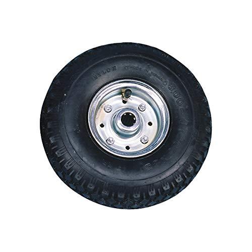 Certeo Aufblasbares Rad auf Stahlfelge | Kugellager | Ø 40 cm | Luftrad Ersatzrad Reifen