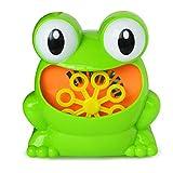 Bubble Machine Tub Big Frog Automatischer Bubble Maker Gebläsespielzeug mit 24 Musiksong Badespielzeug für Baby Boys Girls Candybarbar Green # Single #