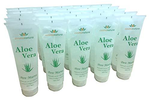 Natura Canaria Lot de 3 tubes de gel à l'aloe vera 100% 250 ml - 25 unités