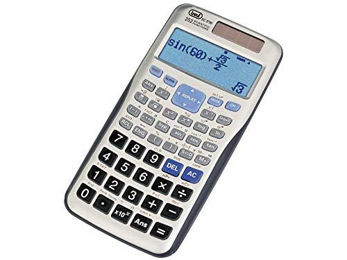 Trevi SC 3790 Calcolatrice Scientifica Elettronica con Display a Lettura Diretta delle Funzioni Algebriche, Funzioni Iperboliche e Iperboliche Inverse, Custodia Rigida di Protezione, Alimentazione Solare e Batteria
