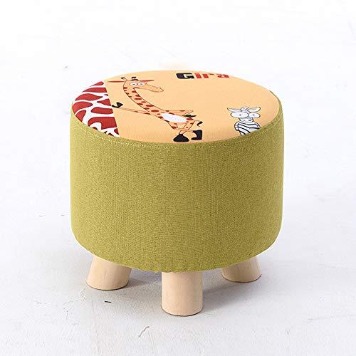 LYXCM kruk massief hout salontafel kruk, veranderen schoenen kruk bank bank thuis multicolor optioneel