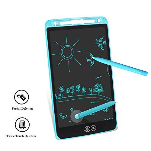 Tablette d'Ecriture LCD Ardoise Magique Tableau 10 Pouces Partiel Effaçable Portable Tableau Graffiti Ecriture Memo Pad Électronique pour Enfants Adultes