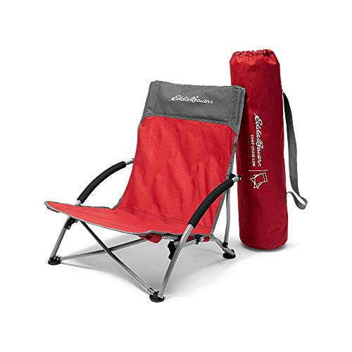 Eddie Bauer Unisex-Adult Camp Chair - Low, Barn Red Regular ONE SIZE