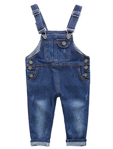 Odziezet Baby Overalls Baby Straps Jeanshose Latzhose für Jungen Mädchen (1-2 Jahre, B)