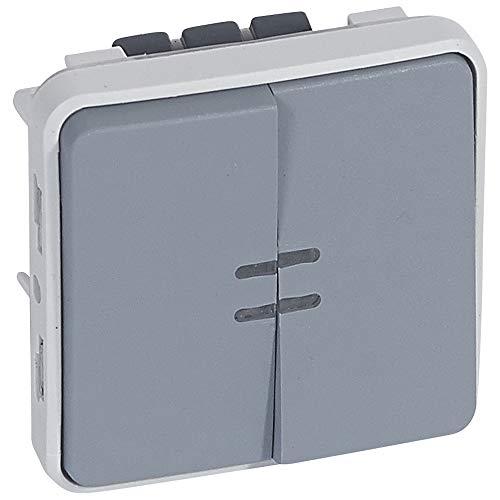 LEGRAND - Va-et-vient lumineux + poussoir lumineux composable gris 10 AX LEGRAND PLEXO 069519 - LEG-069519