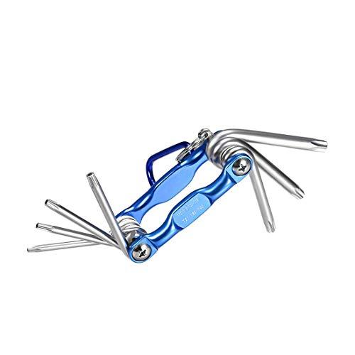 outingStarcase Juego de Llaves hexagonales, 7 en 1 Llave de combinación Plegable for la reparación de Herramientas Herramientas industriales