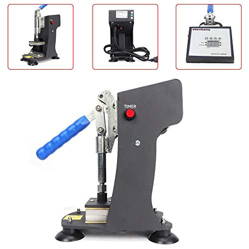 Gdrasuya10 Heat Press Machine Dual Heating Elements Solventless Oil Extraction 2x3 inches