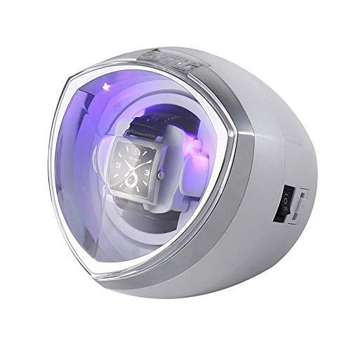 N\C Enrollador de Reloj automático único, con Control de Temporizador Inteligente - Caja de bobinado Iluminación LED Motor silencioso 4 Modos de rotación (Color: Blanco) ZZST