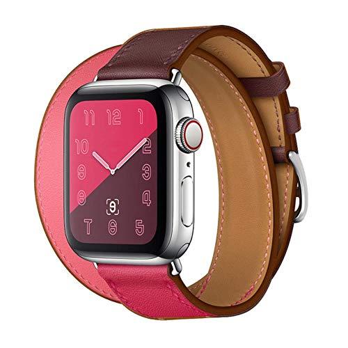 Correa para Apple Watch Band 44 Mm 40Mm Bucle De Cuero para Iwatch Band 42Mm 38Mm Pulsera De Doble Recorrido Correa De Reloj para Apple Watch 5 4 3 6, China, 6