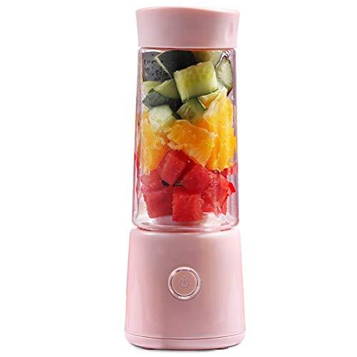 Qinmo Exprimidoras, Portátil Blender, Blender hogar Smoothie Personal Mini Exprimidor Copa 3D 4 Blades, jugos de mezcla Chopper, mezclador, Copa 400 ml de agua perfecto de las frutas Alimentación Infa