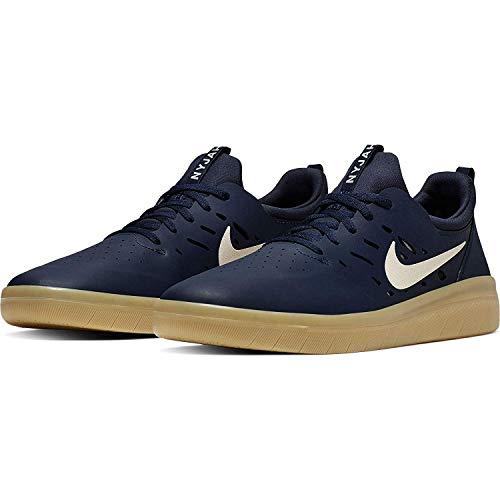 Nike SB Nyjah Free Men's Skateboarding Shoes - AA4272 (9.5 M US, Midnight Navy/Summit White)