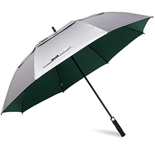 G4Free Paraguas de golf de protección UV de 62/68 pulgadas con ventilación automática con doble toldo extra grande a prueba de viento paraguas de gran tamaño