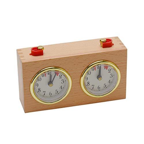 POHOVE Ajedrez Reloj, Profesional Digital Internacional Madera Competencia Ajedrez Reloj Compacto Reglaje Herramientas, Portátil Ajedrez Juego Temporizador Competencia Juego, 6.10x2.17x3.74Inch