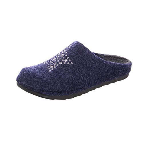Tamaris Damen Hausschuhe Pantoletten 27500 Filz dunkelblau (Navy) EU 38
