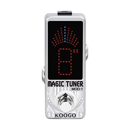 Koogo Guitar Tuner Pedal Magic Tuners High Precision Guitar Chromatic Tuner Pedal ±...