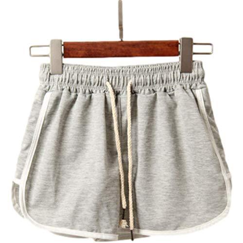 Pantalones Cortos para Mujer Primavera y Verano Moda Todo-fósforo Cordón Cintura elástica Deportes Casuales Pantalones Cortos Sueltos para Correr de Gran tamaño XL