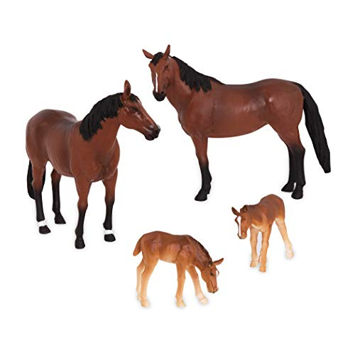 Terra by Battat – Quarter Horse Family - Miniature Toy Horse Family...