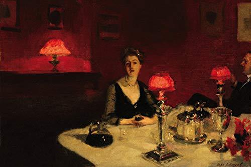 1art1 John Singer Sargent Posters XXL - Le Verre De Porto, Une Table De Nuit, 1884 (120 x 80 cm)
