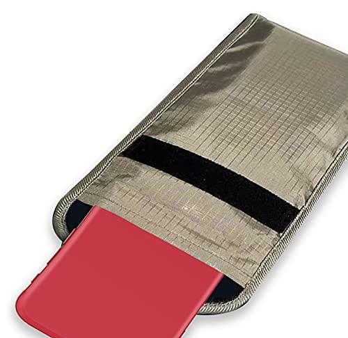 Bolsa de Bloqueo de Señal RFID,Teléfono Móvil Bloqueador de Señal de Radiofrecuencia Antirradiación para Teléfono Celular Tarjetas De Crédito