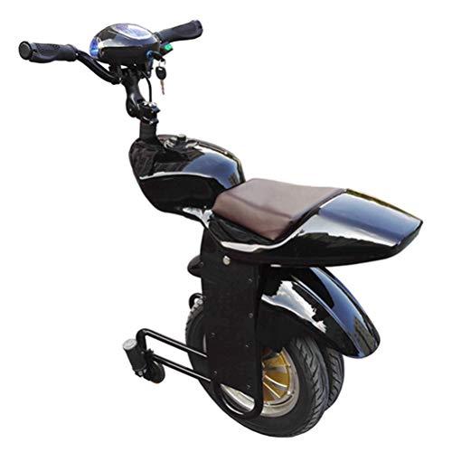 Xyout AutoEquilibrador eléctrico Monociclo Scooter 500W Adulto Motocicleta de una Sola Rueda con Doble Rueda, con Rueda de Entrenamiento y Audio Bluetooth,Black