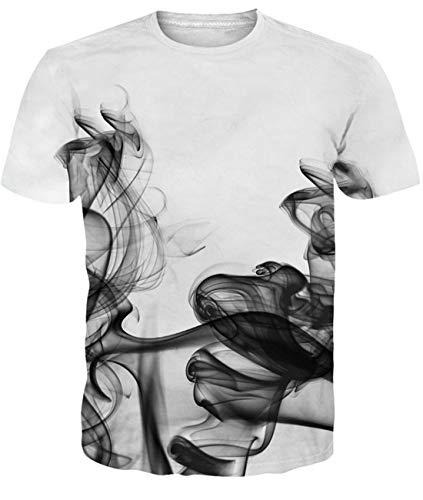 Maglietta da Uomo Maglietta Bianca Maglietta Casual T-Shirt Donna Maglietta